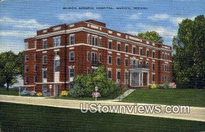 Marion General Hospital - Indiana IN Postcard