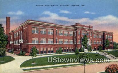 Marion High School Bldg - Indiana IN Postcard