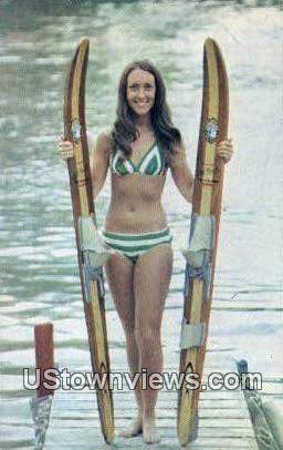 Carol Denny, Mississinewa Boat - Marion, Indiana IN Postcard