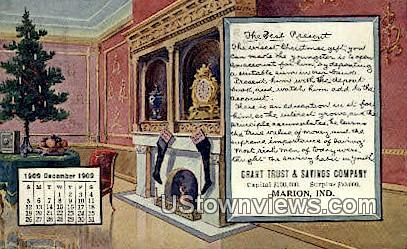Grant Trust & Savings Co - Marion, Indiana IN Postcard