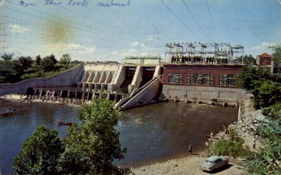 The Oakdale Dam - Monticello, Indiana IN Postcard