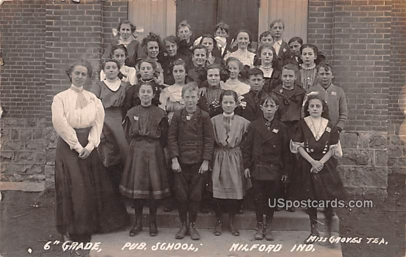 6th Grade - Milford, Indiana IN Postcard
