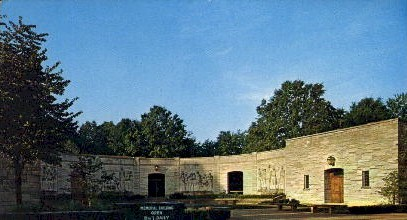 The Memorial Building and Visitor Center - Misc, Indiana IN Postcard