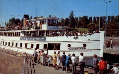 Sightseer Boat - Misc, Indiana IN Postcard
