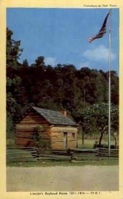 Lincoln's Boyhood Home - Misc, Indiana IN Postcard
