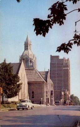 Jackson Street - Misc, Indiana IN Postcard