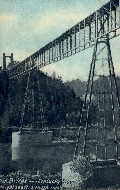 High Bridge over Kentucky River - Misc, Indiana IN Postcard