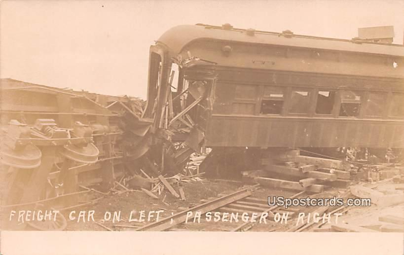 Freight Car on Left - Misc, Indiana IN Postcard