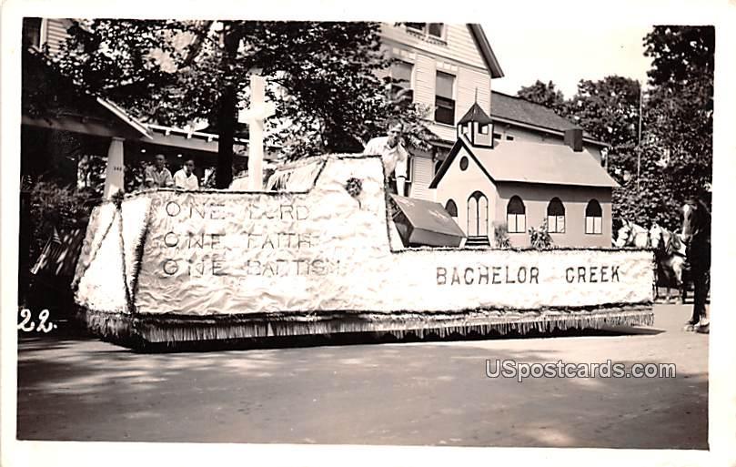Bachelor Greek Float - Misc, Indiana IN Postcard
