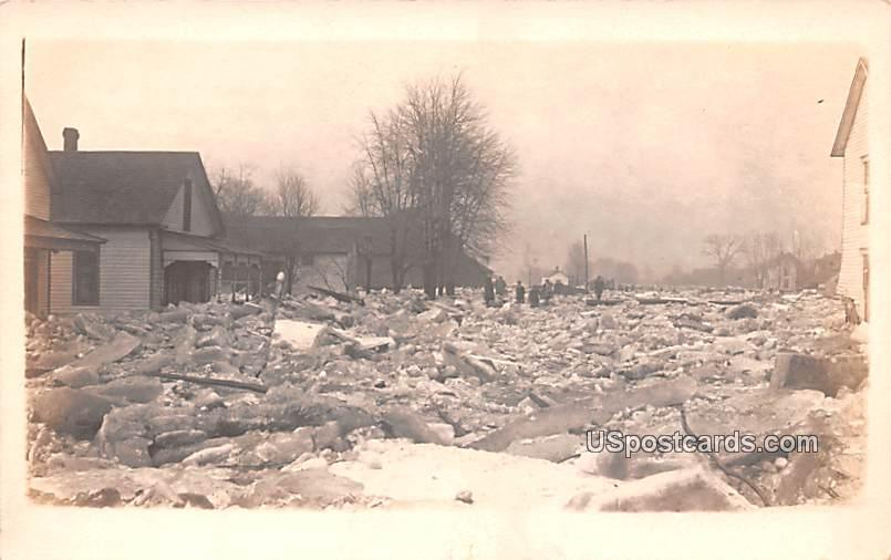 Winter Ice Damage - Misc, Indiana IN Postcard