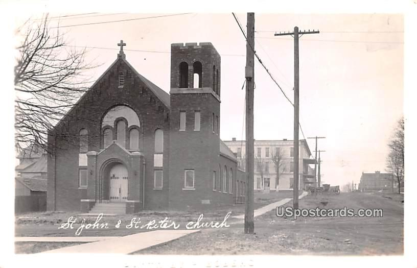 St John & St Peter Church - Misc, Indiana IN Postcard