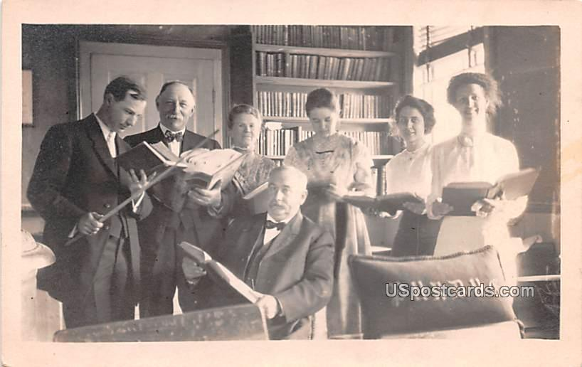 Group of People Reading - Misc, Indiana IN Postcard