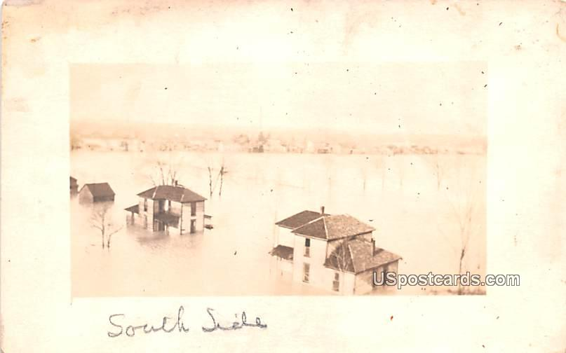 South Side, Water Damage - Misc, Indiana IN Postcard