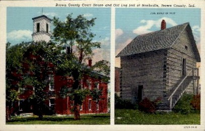 Brown County Court House - Nashville, Indiana IN Postcard