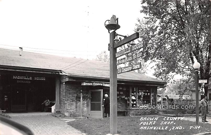 Brown County Folks Shop - Nashville, Indiana IN Postcard