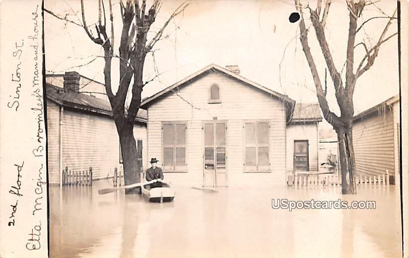 2nd Flood - New Castle, Indiana IN Postcard