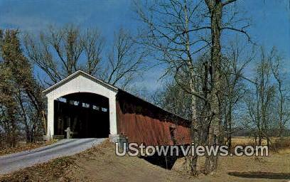 Conley's Ford Bridge - Parke County, Indiana IN Postcard