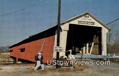 Bridgeton Bridge - Parke County, Indiana IN Postcard