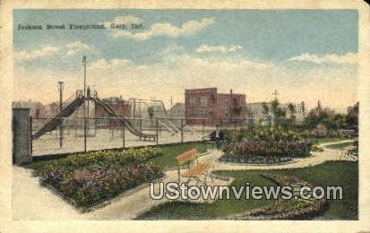 Jackson Street Playground - Gary, Indiana IN Postcard