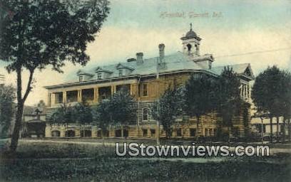 Hospital, Garrett - Indiana IN Postcard