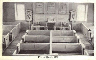 Interior, Pohick Church - Misc, Indiana IN Postcard
