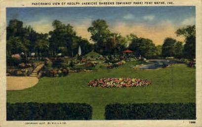 Adolph Jaenicke Gardens - Fort Wayne, Indiana IN Postcard