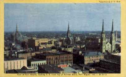 Fort Wayne, Indiana, IN Postcard