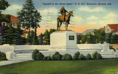E.B. Ball Memorial - Muncie, Indiana IN Postcard
