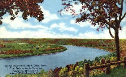 Horseshoe Bend - Misc, Indiana IN Postcard