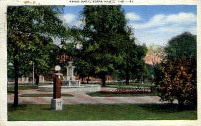 Steeg Park - Terre Haute, Indiana IN Postcard