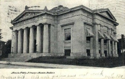 Muncie Public Library - Indiana IN Postcard