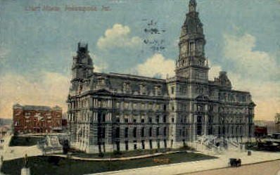 Court House - Indianapolis Postcards, Indiana IN Postcard