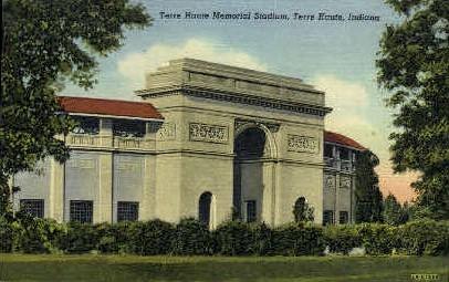 Terre Haute Memorial Stadium - Indiana IN Postcard