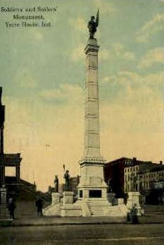 Soldiers & Sailors Monument - Terre Haute, Indiana IN Postcard
