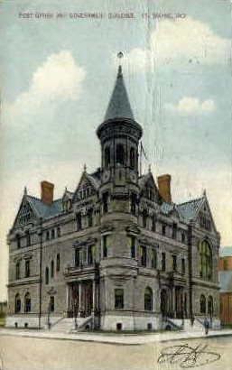 Post Office & Government Building - Fort Wayne, Indiana IN Postcard