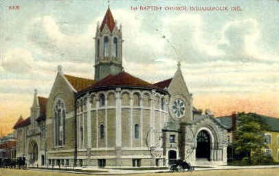 1st Baptist Church - Indianapolis Postcards, Indiana IN Postcard