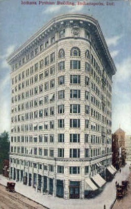 Indian Pythian Building - Indianapolis Postcards, Indiana IN Postcard