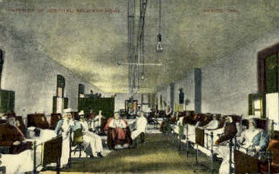 Interior of Hospital, Soldiers Home - Marion, Indiana IN Postcard