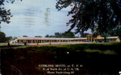 Sterling Motel - Misc, Indiana IN Postcard