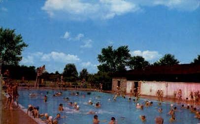 Swimming Pool, McMillen Park - Fort Wayne, Indiana IN Postcard