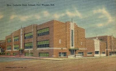 New Catholic High School - Fort Wayne, Indiana IN Postcard