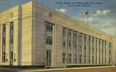 U.S. Post Office & Court House - Terre Haute, Indiana IN Postcard