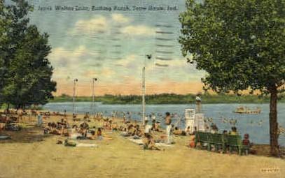 Izaak Walton Lake - Terre Haute, Indiana IN Postcard