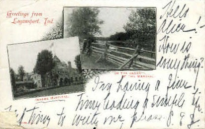 Greetings From - Logansport, Indiana IN Postcard