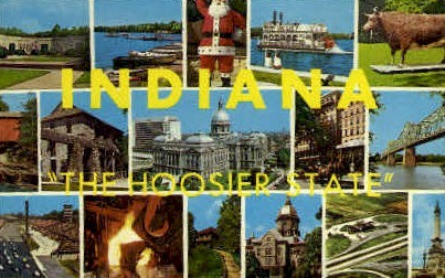 Misc, Indiana, IN Postcard