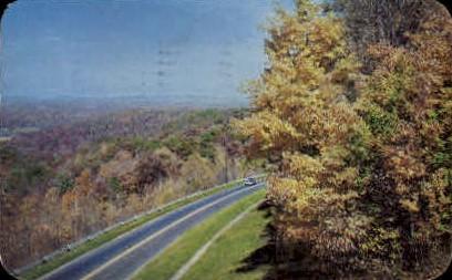 Brown County Road Scene - Nashville, Indiana IN Postcard