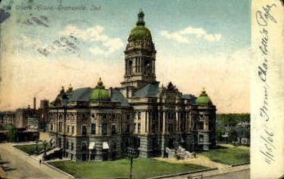 Court House - Evansville, Indiana IN Postcard
