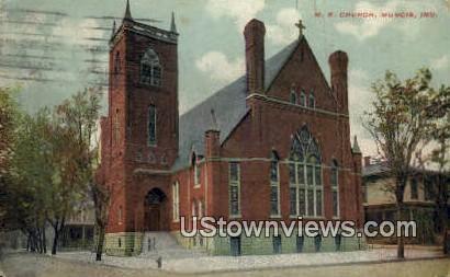 ME Church - Muncie, Indiana IN Postcard