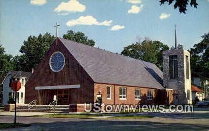 Catholic Church - Knox, Indiana IN Postcard