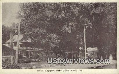 Hotel Taggart, Bass Lake - Knox, Indiana IN Postcard